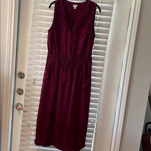 Merona Large Midi Dress Wine Dark Red sleeveless